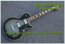 Hohe Qualität Splitter Burst China Benutzerdefinierte LP E-gitarre Kits Lager Verfügbar