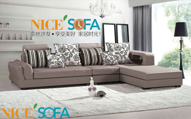 Uk Style Fabric Corner Sofa Couch Chaise 1208B#