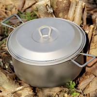Keith Titanium Pot Stockpot Открытый Отдых Туризм Traving Охоты Пикник Посуда Ollas Cocina 2.5L 350 г KP6018 Завязки Мешка
