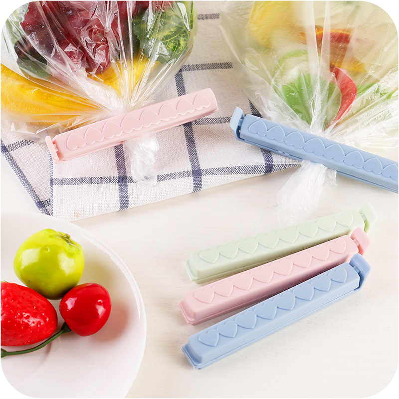5Pcs/set Portable plastic Bag Clips Snack Fresh Food Storage Bag Sealer Kitchen Tool accessories Vacuum Sealing Clamp Food Clip