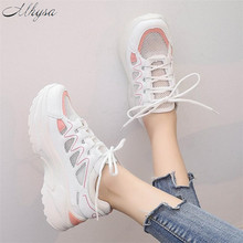 Mhysa 2019 Women Sneakers Fashion Casual Shoes Woman 편안한 숨 Mesh 암 플랫폼 Sneakers Chaussure Femme T462(China)