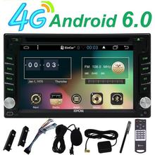 FREE 4G Dongle Car DVD gps Player Android 6.0 Quad Core Automotive Stereo Wifi 3G/4G Mirror Link 1080P Video MP5 Player+free 4G