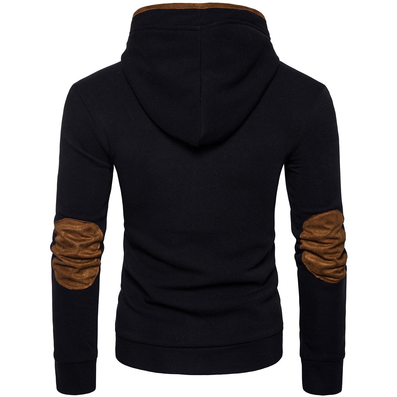 Sweats Noir ardoisé Casual En Hoodies Poitrine gris Hommes Veste Streetwear Capuche De Cuir Unique xAwHqYFq