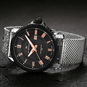 Image 4 - Naviforce Для мужчин кварцевые часы Элитный бренд Повседневное Для мужчин спортивные наручные часы Нержавеющаясталь группа Водонепроницаемый мужской Relogio Masculino