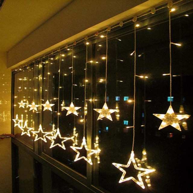 Aliexpresscom Buy 2 x 1m Warm White LED String Curtain LIGHTS