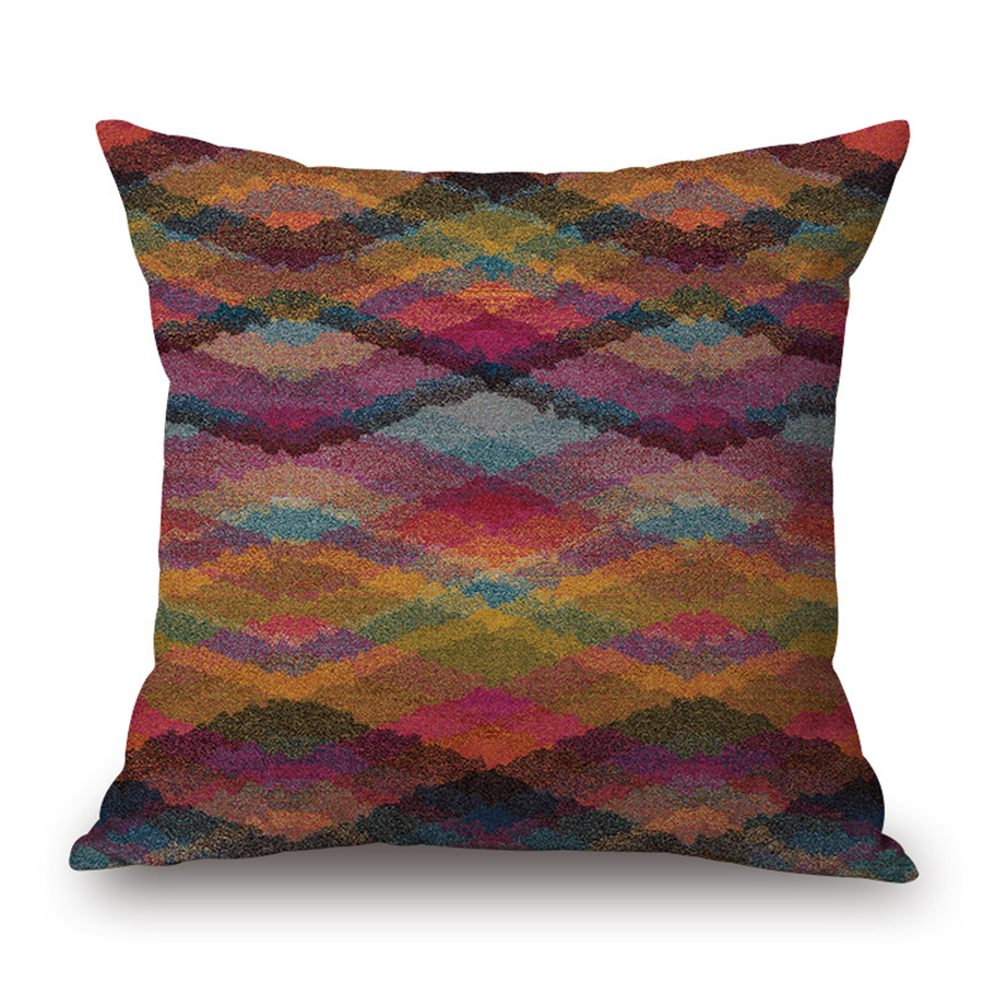 decorative plaid decorative office bed chair cushion cover vintage