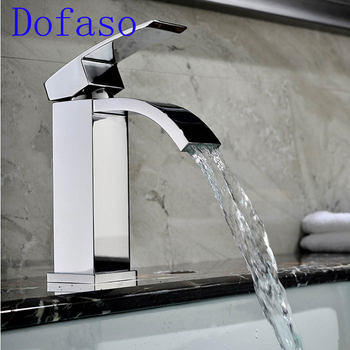 Dofaso Luxury Sink Faucet Mixer bath tap set Brass Chrome single handle hot and cold bathroom basin faucet цена 2017