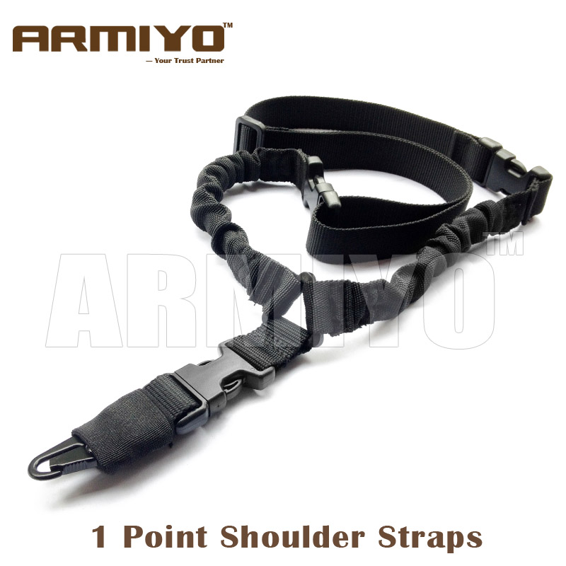 Armiyo Tactical US Heavy Duty 1000D Nylon 1 Single Point Dual Bungee Harnesses Gun Shoulder Strap Hunting Paintball Accessories