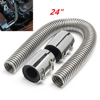 Universal Car 24 Flexible Upper Lower Radiator Hose Coolant Water Pipe Kit Stainless w/ Caps