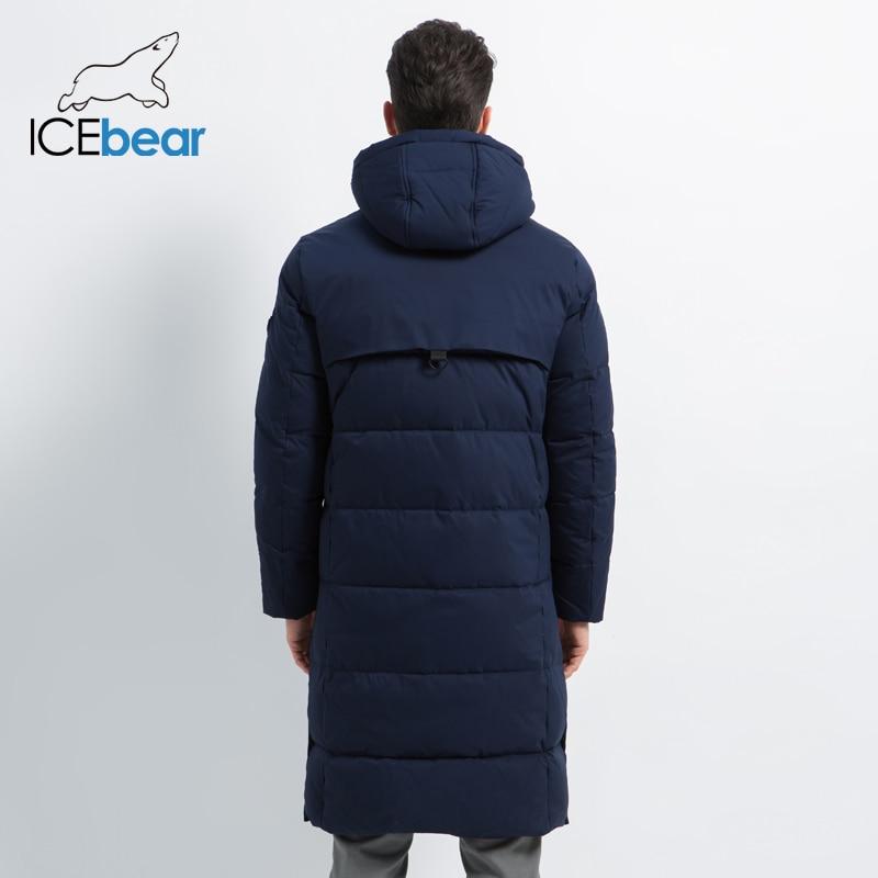 2019 neue männer Winter Jacke Lange Mantel der Männer mit Zipper Mit Kapuze Männlichen Mäntel Hohe Qualität Mann Winter Marke kleidung MWD19913D - 2