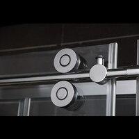 Diyhd 60in/79in Barn раздвижные двери душа аппаратного выполненные в линии плоские трек атлас/хром душ дверь раздвижные трек оборудования