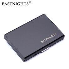 EASTNIGHTS 2017 new arrival High-Grade stainless steel men credit card holder women metal bank case box black