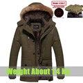 Plus Size 4XL,5XL warm Winter Jacket Men Middle Long cotton Down Parka outwear Detachable Hood windproof Winter man Coat