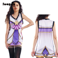 Anime LOL Star Guardian Coplay Basketball Jerseys Women S Casual Tank Tops Sexy T Shirt Jinx