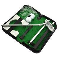Ir-Sporting Loja Auxiliares De Treinamento de Golfe Liga de Alumínio PVC Borracha Golf Putting Conjunto Kit instrutor golfer Prática ferramenta de Entretenimento