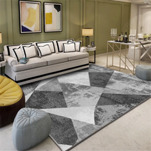 Nordic Abstract Door Mat Living Room Carpets 3D Printing Soft Carpet Coffee Table Bedroom Non-slip Absorbent Polyester Rug
