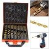 Titanium Coated HSS Drill Bit Set 99 Pcs Case Plastic Wood Metal Kit
