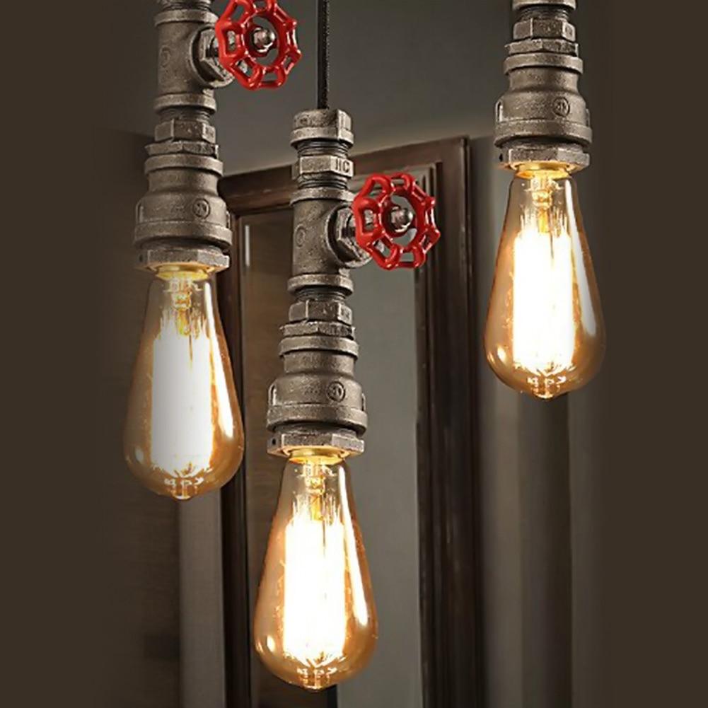 Creative industrial lamps - Industrial Loft Style Chandelier Creative Personality Retro Water Pipes Fixtures Chandelier Restaurant Bar Antique Pendant Lamp
