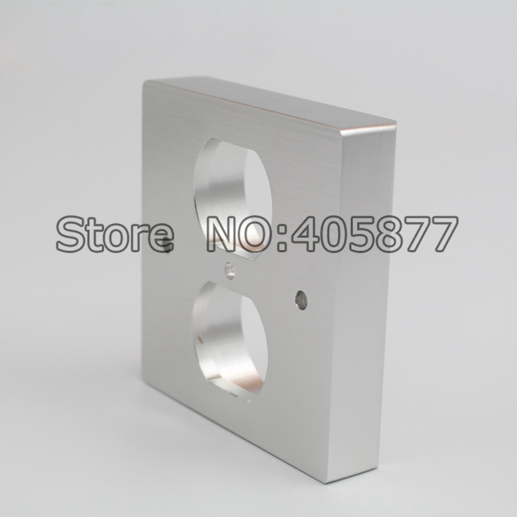 Viborg 20MM Thickness US Socket AC Power Duple Receptacle Cover Outlet Wall Plate Panel 86x86 стоимость