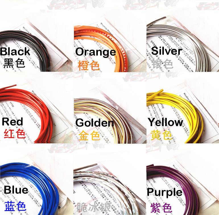 5 meters Decorative thread sticker indoor pater car body decals styling tags car styling accessory-in Car Stickers from Automobiles & Motorcycles