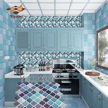 Mosaic Wall Tile Peel and Stick Self adhesive Backsplash DIY Kitchen Bathroom Home Wall Sticker Vinyl 3D(China)
