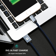 FLOVEME For Lightning To USB Cable For iPhone 8 6 7 5V/2.1A Fast Charge 0.3m 1m 2m USB Cable For iPhone Cabo Wholesale 5Pcs/Lot