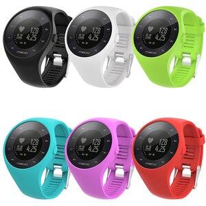 Image 4 - Nützliche Premium Silikon Weiche Band Uhr Handgelenk Gurt Für Polar M200 GPS Uhr Ersatz
