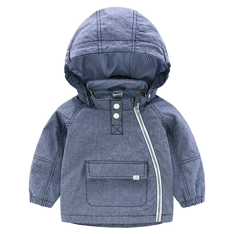 2018 New Children Denim Coat for Boy Cowboy Jackets Kids Hoodie Outerwear Fashion Long Sleeve Boys Blazer Clothing Baby Jacket 84665 leather jackets children spring baby boy jacket faux leather boy outerwear casual kids coat fashion boy coat fashion