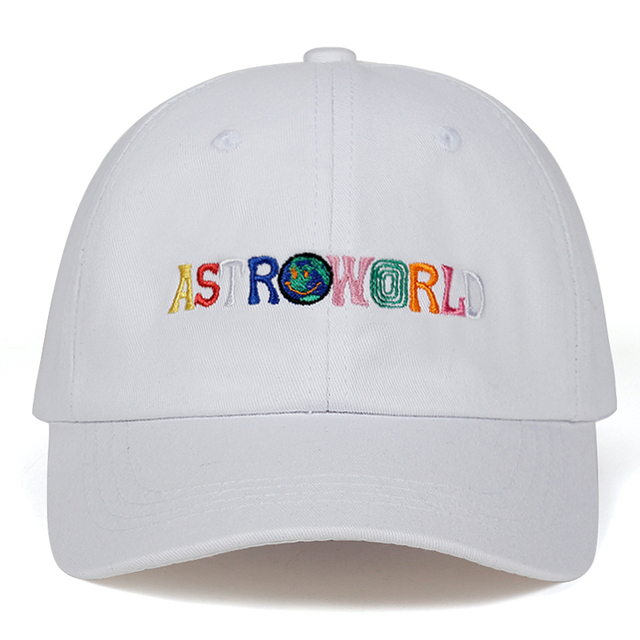Travi$ Scott latest album ASTROWORLD Dad Hat 100% Cotton High quality embroidery Astroworld Baseball Caps Unisex Travis Scott