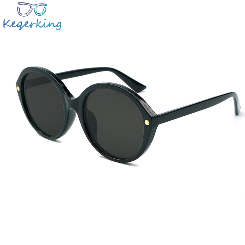 2018 New Trend Rivet Sunglasses Female Elliptical Versatile Sunglasses Cat Eye Vintage Men Eyewear Goggles Ha-03 Brand Designer