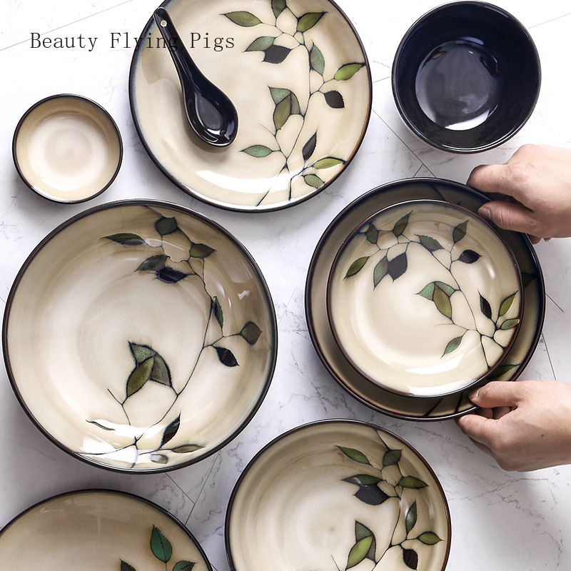 Hand-Painted Japanese Ceramic Dishes Set 2
