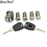 OkeyTech Nieuwe Lock Set Met 2 Toetsen Goede Kwaliteit Vervanging Autodeur Ontsteking Kofferbak Slot Barrel Cilinder voor Fiat GT15R Blade