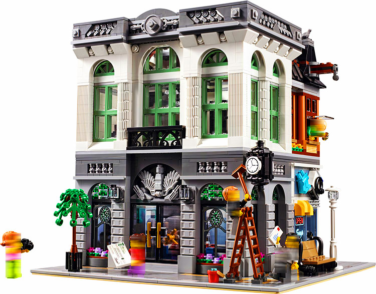 LEPIN 15001 Streetview Series 2418pcs Brick Bank  Building Block Bricks set Toys For children Legoing 10251 Gift legoing chaos warriors caves 70596 ninja series 1307 building blcok set brick compatible 10530 toys for children gift
