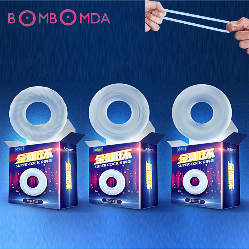 Silicone Penis Ring Sex Toys For Adults Men Male Ejaculation Delay Cock Ring Long Lasting Firmer Erection Soft Flexible Cockring
