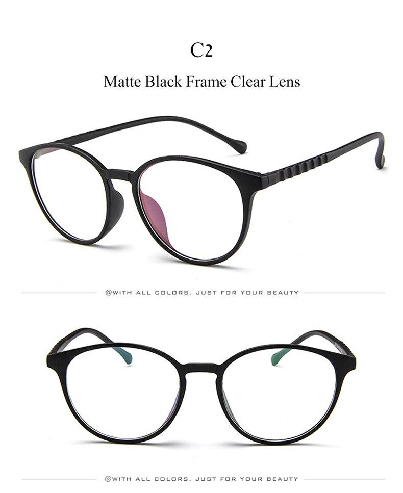 99e38255614 DIDI Korea Computer Student Glasses Women Men Round Oval Eye Glasses  Transparent Clear Flat Lens Myopia Prescription Frames W779