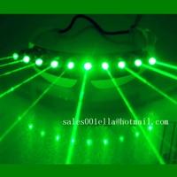 Бесплатная доставка зеленый лазерный Человек очки Светодиодный светящийся лазер шоу очки сценическое шоу Laserman бар DJ вечерние солнцезащитн