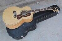 Горячая Оптовая Высокое качество Массив ели назад/сбоку Tiger Stripe народная BurlyWood Акустическая гитара 15 9