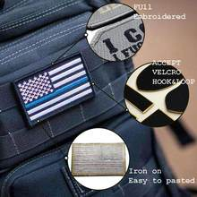 Aangepaste borduurwerk patch uw eigen gepersonaliseerde opstrijkbare militaire biker patch voor kleding applique DIY pvc badges brief stickers(China)