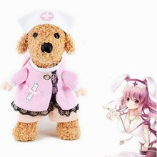 2016 NEW Creative Pet Dog Puppy Costume Clothes Sexy Nurse Uniform with Hat Attire 4Sizes