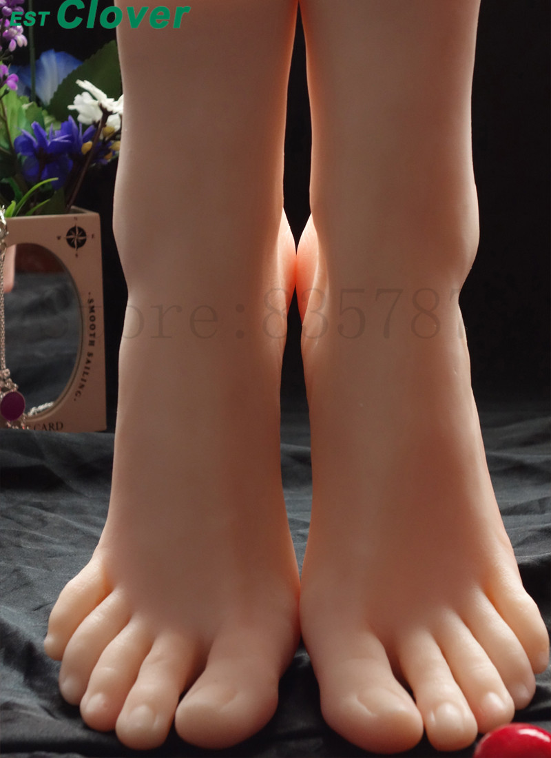 Silicone Foot,Sex toys Female Mannequin Foot 3701# C151 new 2pcs female right left vivid foot mannequin jewerly display model art sketch