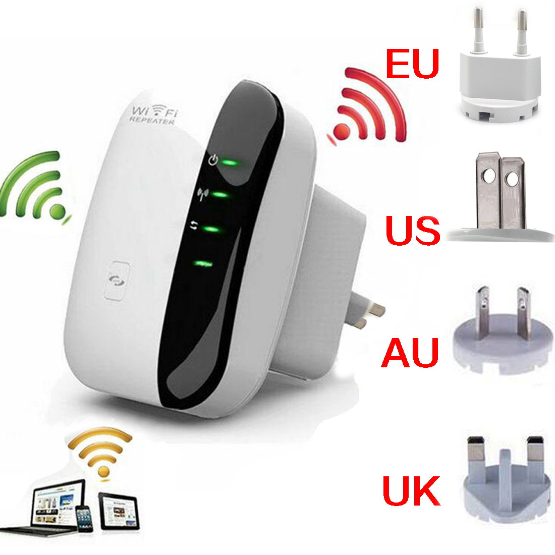 NOYOKERE Sans Fil-N Wifi Répéteur 802.11n/b/g Réseau Wi Fi Routeurs 300 Mbps Expander Signal booster Extender Cryptage