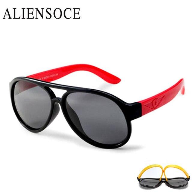 196ebc39d ALIENSOCE Clássico Infantil Bebê Crianças Óculos Polarizados Óculos de Sol  Revestimento de Segurança Das Crianças Óculos