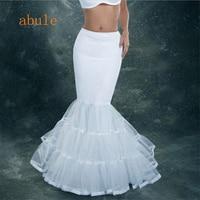 Mermaid Petticoat For Wedding Dress White Petticoat Crinoline Women Prom Dresses Underskirt Crinoline Trumpet Bridal Petticoat