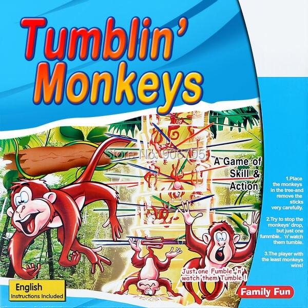 Mainan pendidikan Dump Monyet jatuh Game Klasik Keterampilan dan Aksi yang Menyenangkan untuk Bermain, hadiah Besar untuk anak perempuan dan anak laki-laki