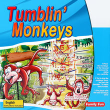 Educational Toys Dump Monkeys tumbling Classical Game of Skills and Action that's Fun to Play, Great gift for girls and boys