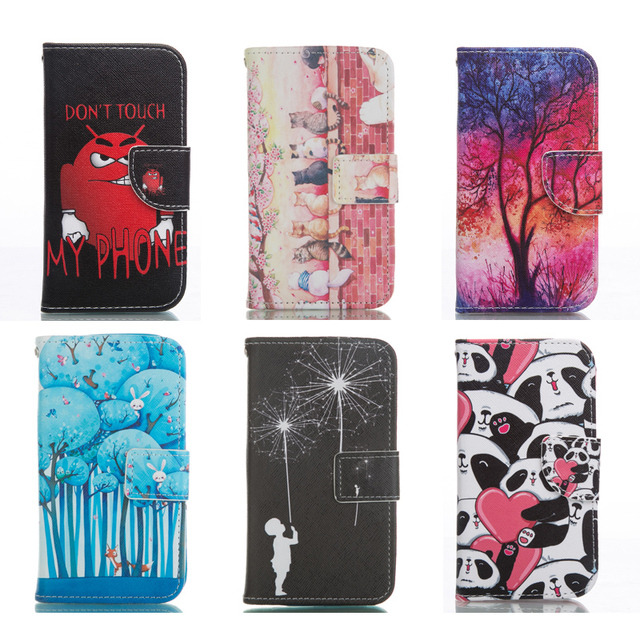 PU Leather Case For Samsung Galaxy S4 GT i9500 i9505 GT-i9505 GT-i9500 S 4 Flip Wallet Phone Cover for Samsung S4 Fundas Capa