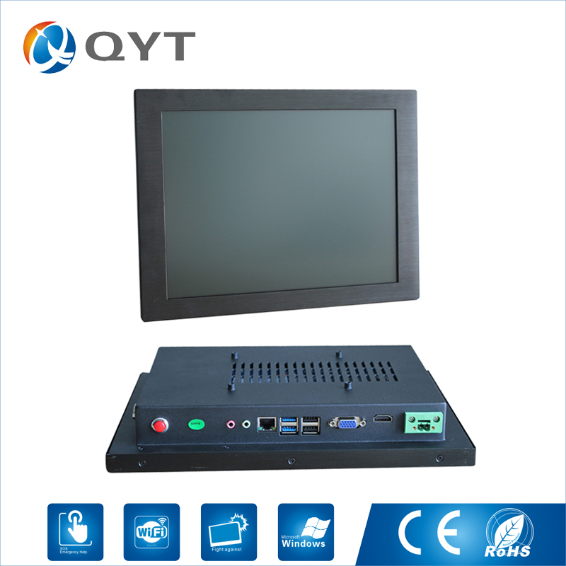 12 inch Embedded Industrial Panel Computer intel i5 6200U 2.3GHz 2GB RAM 32G SSD Touch Screen Pc With VGA 2*RS232 4*USB RJ4