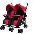 6 rodas carrinho de bebê Gêmeos carrinho de criança, carrinhos de gêmeos, carrinhos duplos, confirme a CASA, de alta qualidade, frame Da Liga de Alumínio, 600D Oxford.