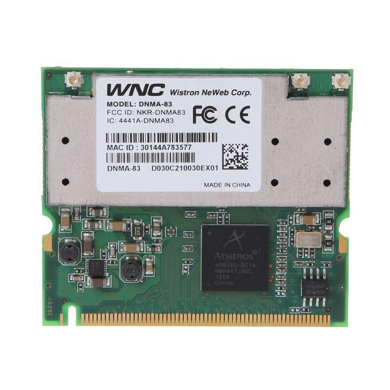 Wireless Adapter Card For Atheros AR9160 Wi-Fi WLAN 802.11a/b/g/n MINI PCI DNMA-83 3X3 Wifi Network Card