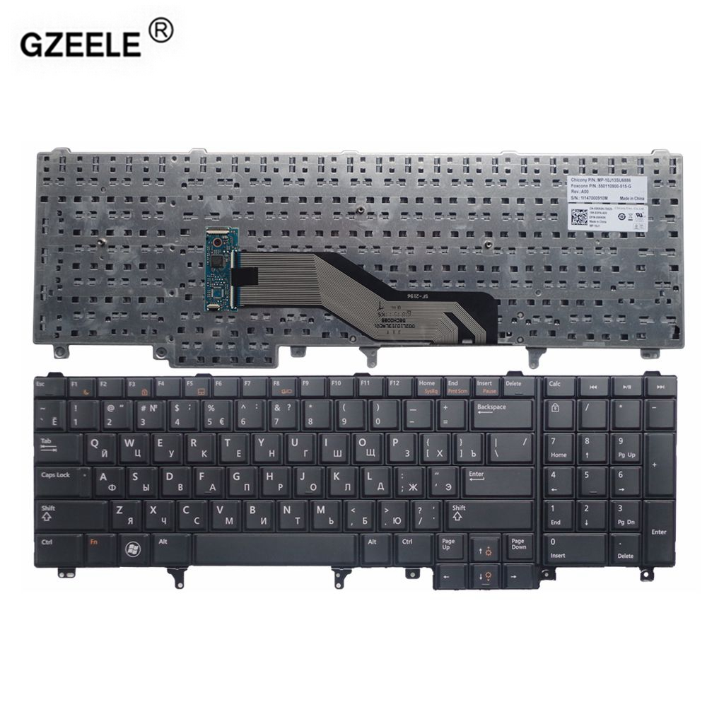 gzeele laptop keyboard for dell e6520 e5520 m4600 m6600 e5530 e6530 m4700 m6700 ru layout new black replacement russian keyboard in replacement keyboards  [ 1000 x 1000 Pixel ]